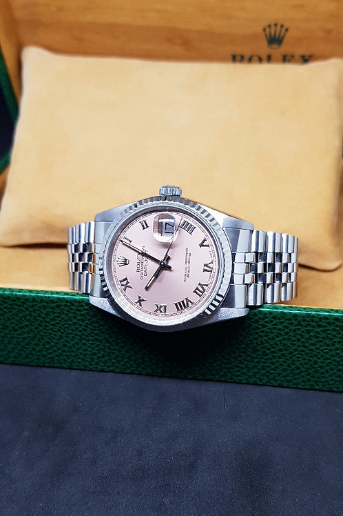 Rolex Oyster Perpetual Salmon Pink Datejust REF: 16234