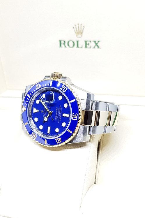 Rolex 18K Half Gold Ceramic Matte Blue Submariner REF: 116613LB