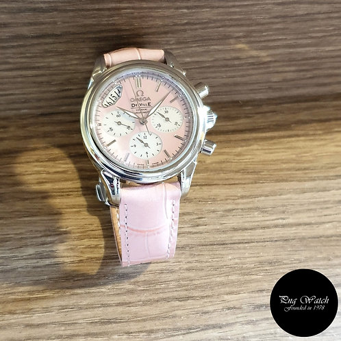 Omega Deville Pink MOP Co-Axial Chronograph Watch REF: 4878.74.34 (2)