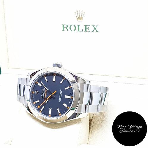 Rolex Oyster Perpetual 40mm Black Milgauss REF: 116400 (2010)