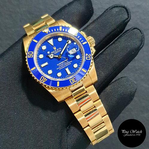 Rolex 18K Full Yellow Gold Matte Blue Submariner Date REF: 116618LB (2)