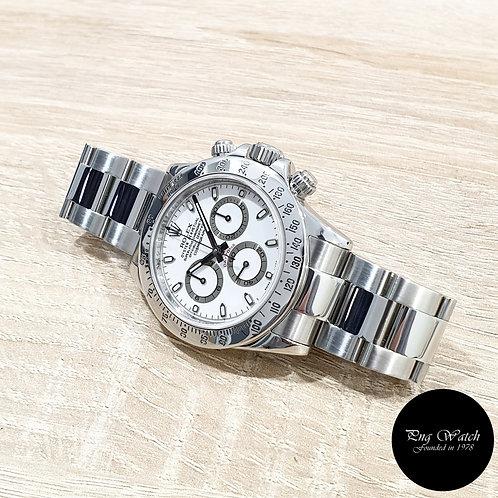 "Rolex OP Steel White Indexes ""APH"" Cosmograph Daytona REF: 116520 (2)"