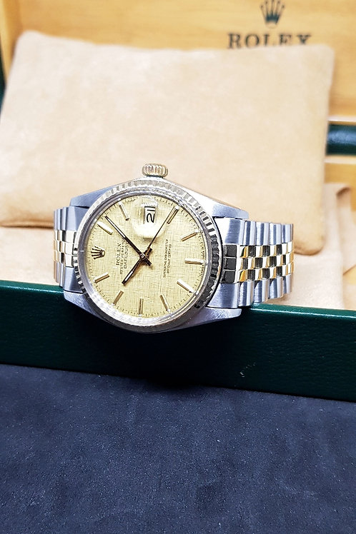 Rolex Oyster Perpetual Half Gold Textured Datejust REF: 16013