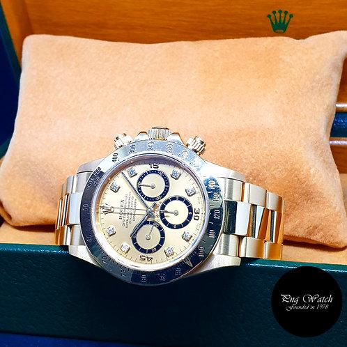 "Rolex OP 18K YG ""Zenith Movement"" Champagne Diamonds Daytona REF: 16528 (S)"