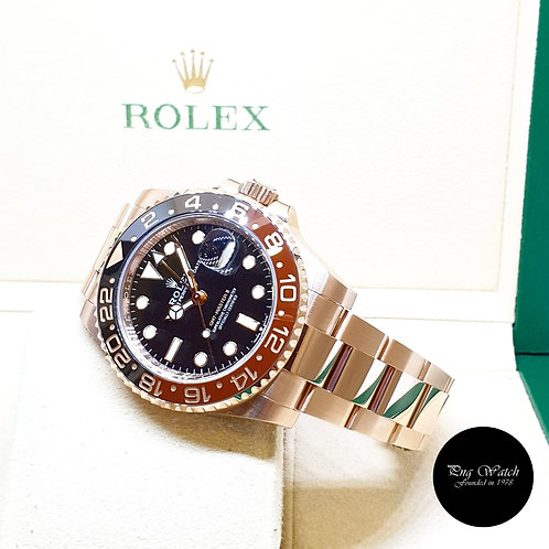 """Rolex Perpetual 18K Rose Gold """"ROOTBEER"""" GMT Master 2 REF: 126715CHNR (2018)"""