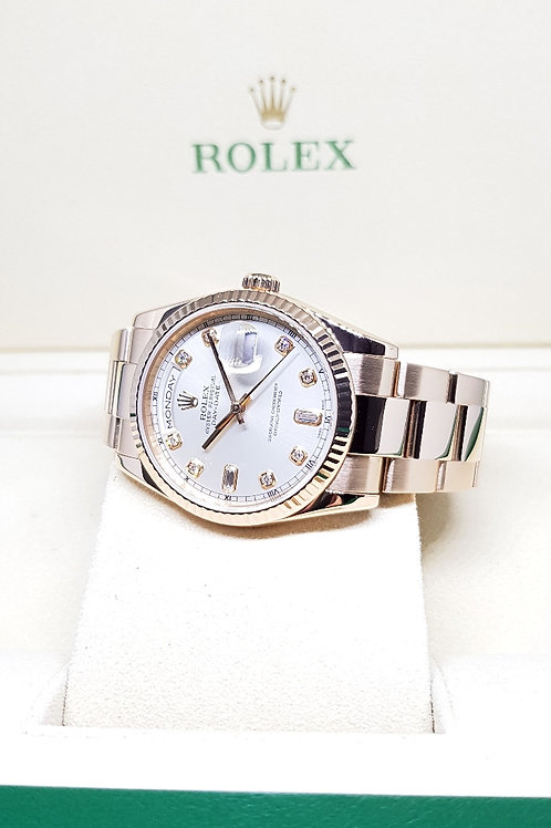 Rolex 18K Rose Gold Diamonds Day-Date REF: 118235