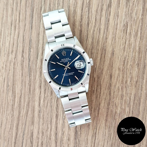 Rolex 34mm Blue Oyster Perpetual REF: 15210 (2)