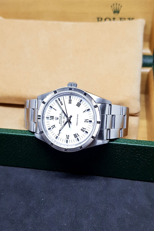 Rolex Oyster Perpetual White Roman Air-King REF: 14010