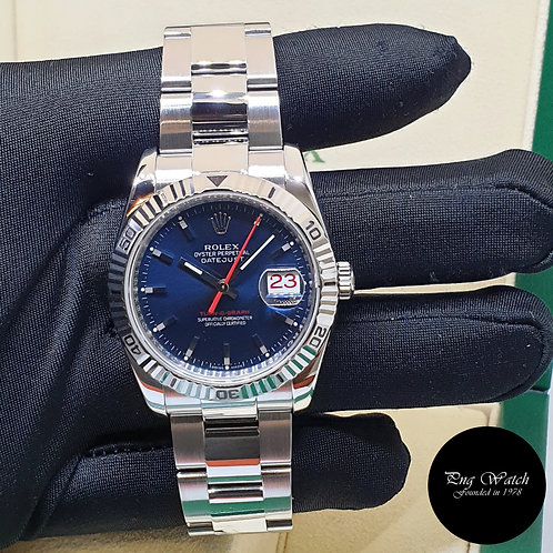 """Rolex Oyster Perpetual Blue """"Turn-O-Graph"""" Datejust REF: 116264 (F)(2)"""