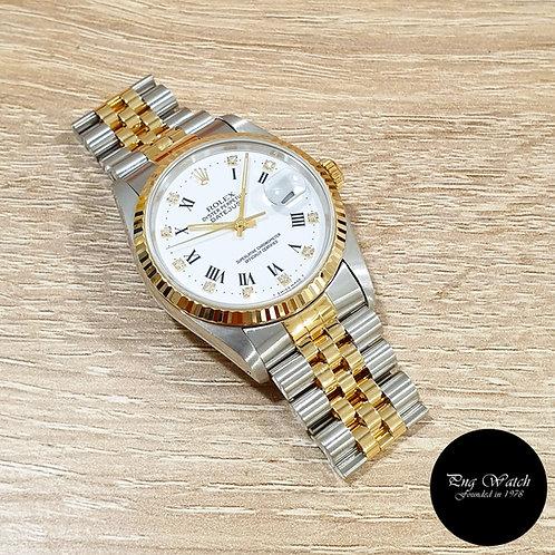 Rolex Oyster Perpetual White Roman Diamonds Datejust REF: 16233 (X)(2)