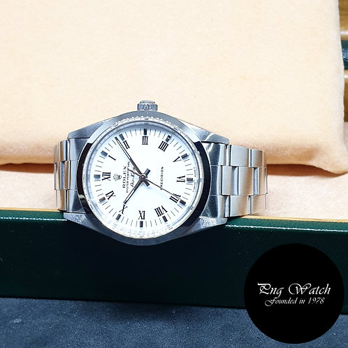 Rolex Oyster Perpetual 34mm White Roman Air-King REF: 14000