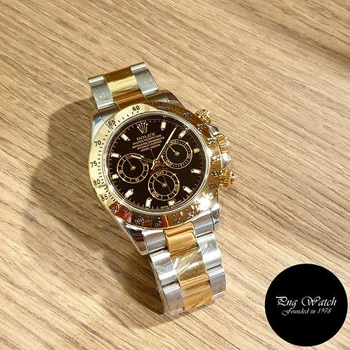 Rolex Oyster Perpetual 18K Half Gold Black Daytona REF: 116523 (2)