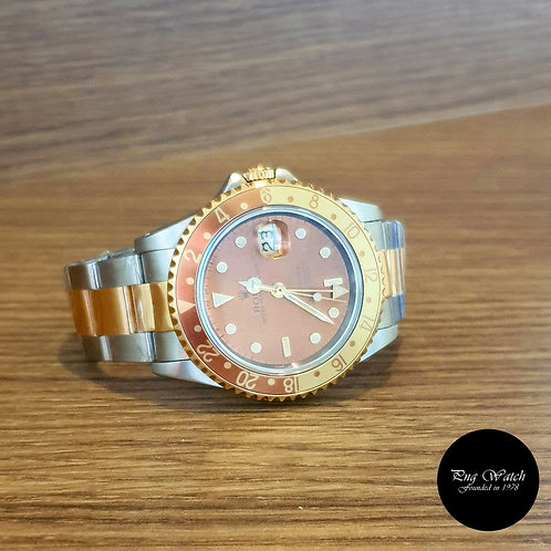 "Rolex 18K Half Gold ""Rootbeer"" GMT Master 2 REF: 16713 (2)"