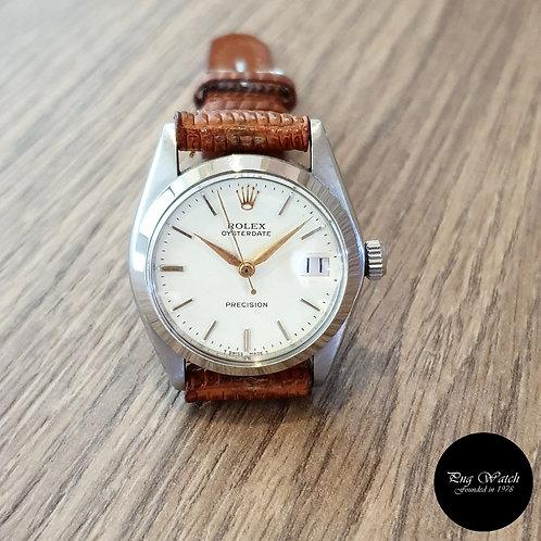 Rolex 31mm White Oysterdate REF: 6466 (2)