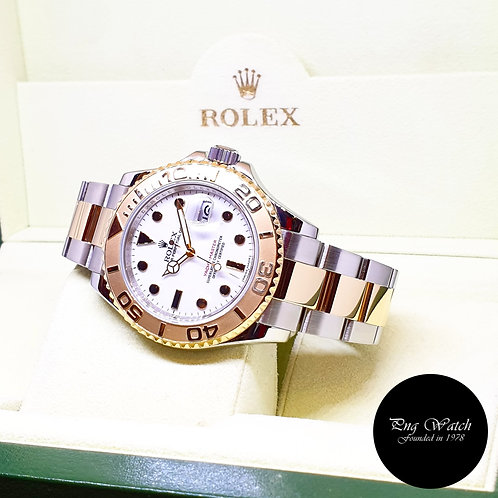 Rolex Oyster Perpetual 18K Half Gold White 40mm Yachtmaster REF: 16623 (V)