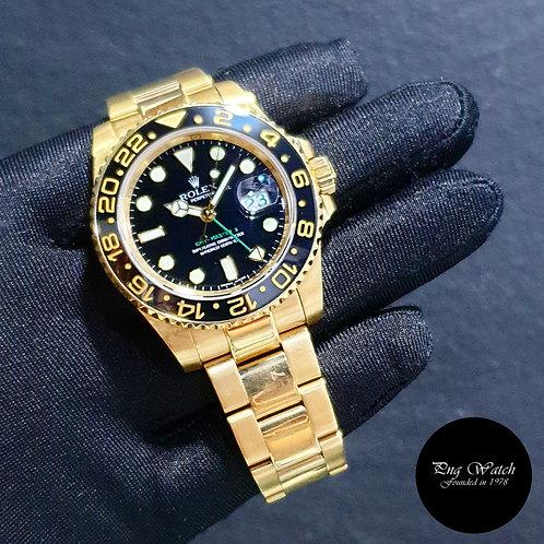 "Rolex 18K Yellow Gold ""Chopstick"" Black GMT Master 2 REF: 116718LN (2)"