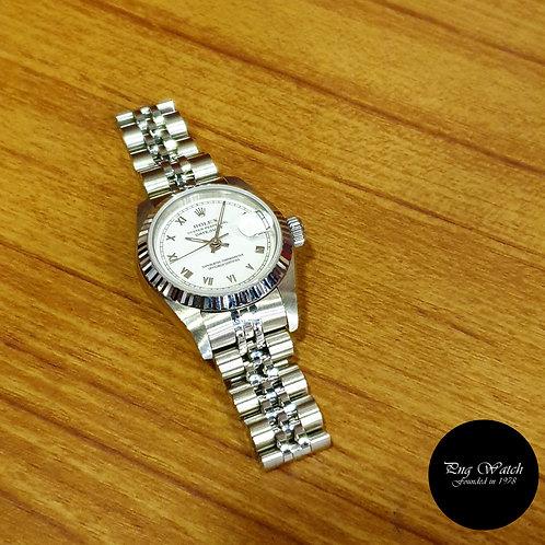 Rolex 26mm White Roman Ladies Datejust REF: 69174 (2)