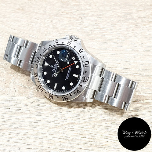 Rolex Oyster Perpetual Black Explorer 2 REF: 16570 (F)(2)