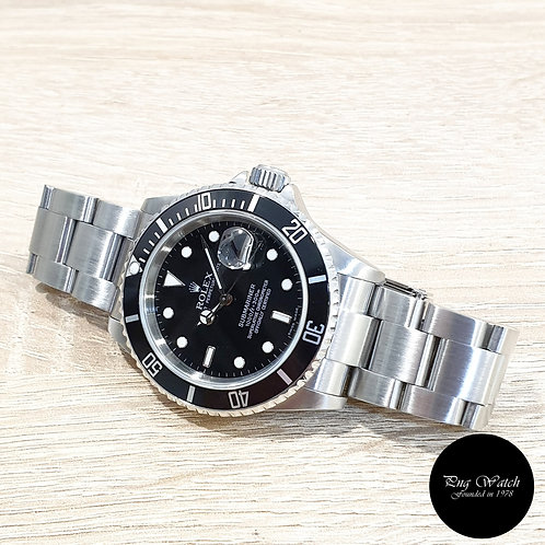 Rolex Oyster Perpetual Date Black Submariner REF: 16610 (Z)(2)