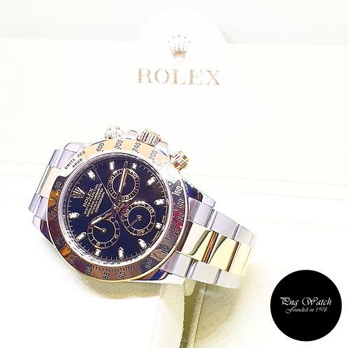 Rolex OP 18K Half Gold Black Indexes Daytona REF: 116523 (2016)