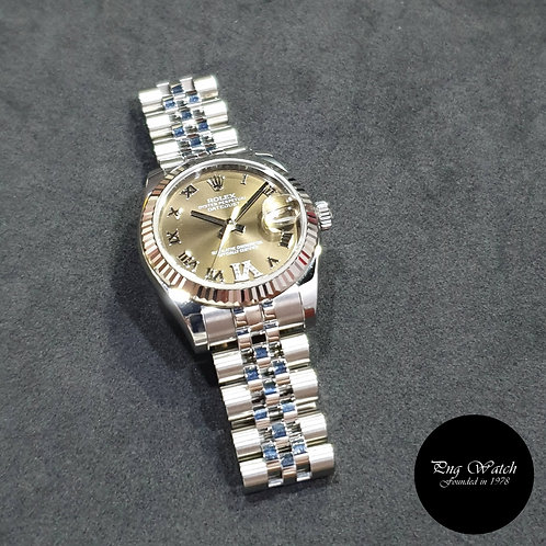 Rolex Oyster Perpetual 31mm Olive Green Diamond VI Datejust REF: 178274 (13)(2)