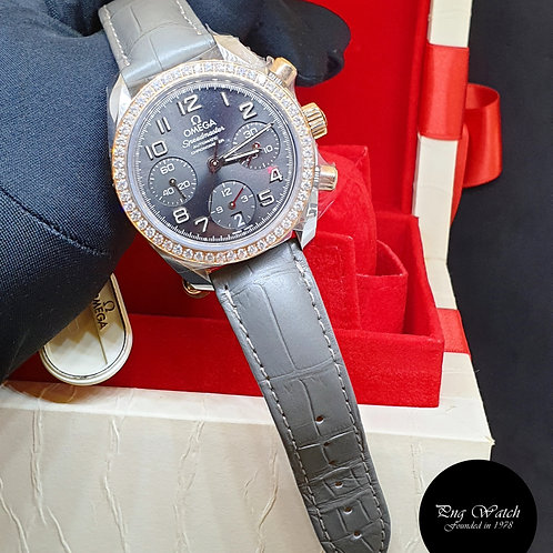 Omega 18K Half Rose Gold Speedmaster Chronograph REF: 324.28.38.40.06.001 (2)