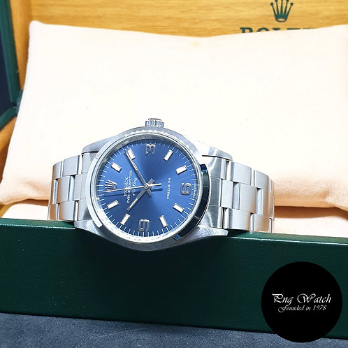 Rolex Oyster Perpetual 34mm Tritium Blue Air-King REF: 14000