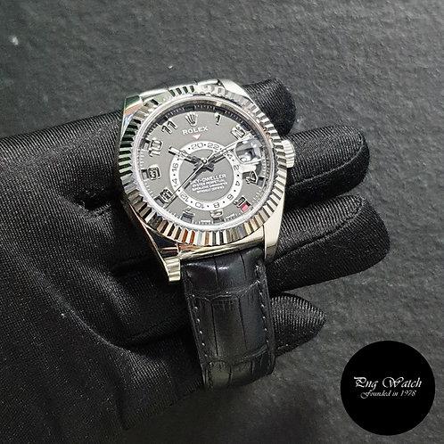 Rolex Perpetual 42mm 18K Full White Gold Black Sky Dweller REF: 326139 (2)