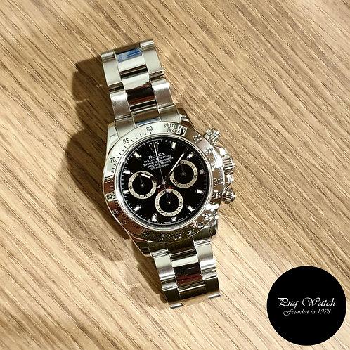 Rolex Oyster Perpetual Black Steel Cosmograph Daytona REF: 116520 (2)