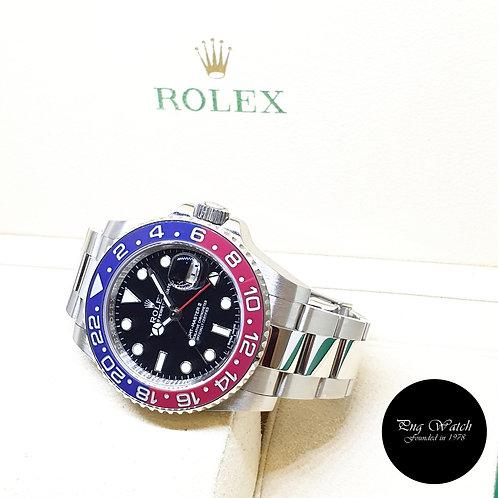 """Rolex 18K White Gold """"PEPSI"""" Black GMT Master 2 REF: 116719BLRO"""