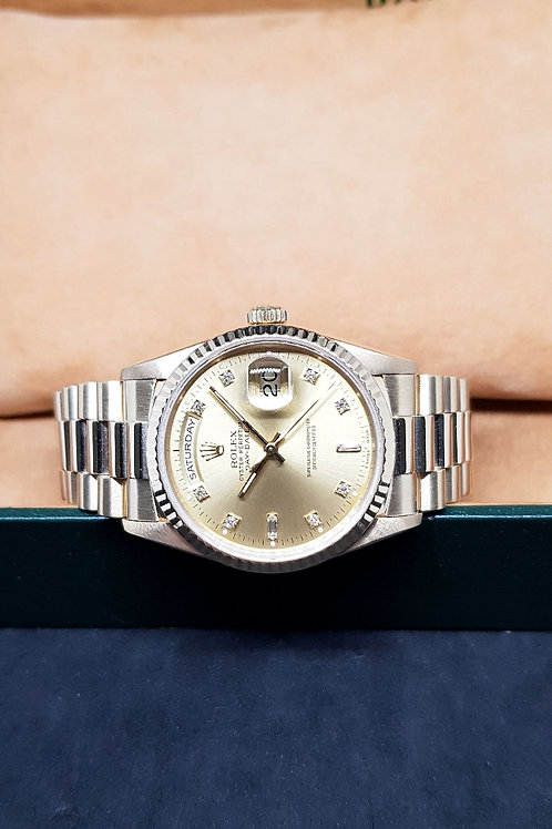 Rolex 18K Solid Yellow Gold Diamonds Day-Date REF: 18238