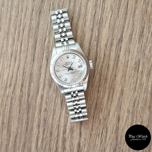 Rolex Oyster Perpetual 10PT Diamonds Silver Datejust REF: 79174 (2)