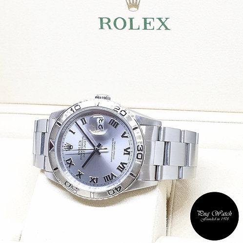 """Rolex 36mm Oyster Perpetual Silver """"Turn-O-Graph"""" Datejust REF: 16264 (F)"""