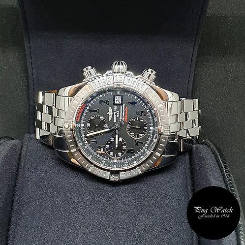 Breitling Black Chronomat Evolution Chronograph Watch REF: A13356 (L.E 400)