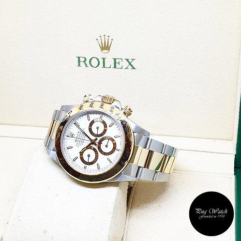 "Rolex Oyster Perpetual 18K Half Gold ""Zenith Mvt"" White Daytona REF: 16523"