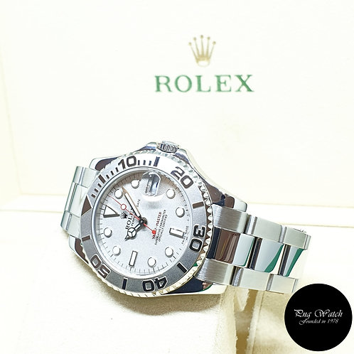 Rolex Oyster Perpetual Platinium 35mm Yachtmaster REF: 168622 (A Series)