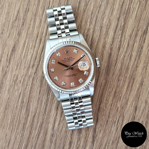Rolex Oyster Perpetual 10PT Diamonds Chamapgne Brown Datejust REF: 16234 (2)
