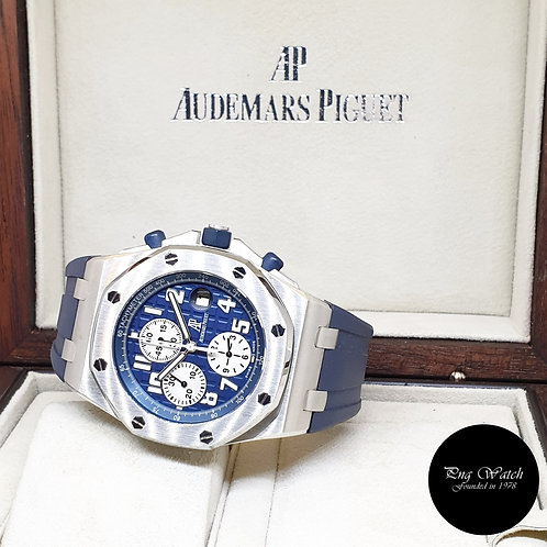 "Audemars Piguet Royal Oak Offshore ""NAVY"" Chronograph REF: 25721ST (G Series)"