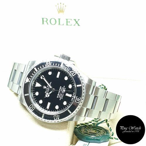 Rolex Oyster Perpetual Steel 41mm Ceramic No Date Black Submariner REF: 124060