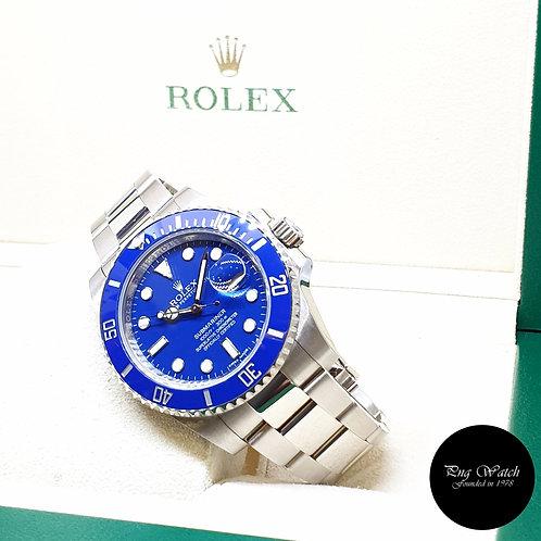 """Rolex Ceramic 18K Full White Gold Blue """"SMURF"""" Submariner REF: 116619LB (17)"""