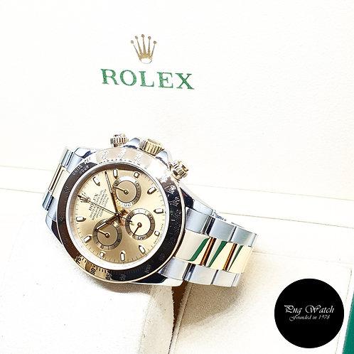 Rolex Oyster Perpetual 18K Half Gold Champagne Daytona REF: 116523 (K Series)