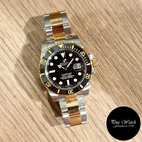 Rolex OP 18K Ceramic Black Half Gold Submariner Date REF: 116613LN (2)