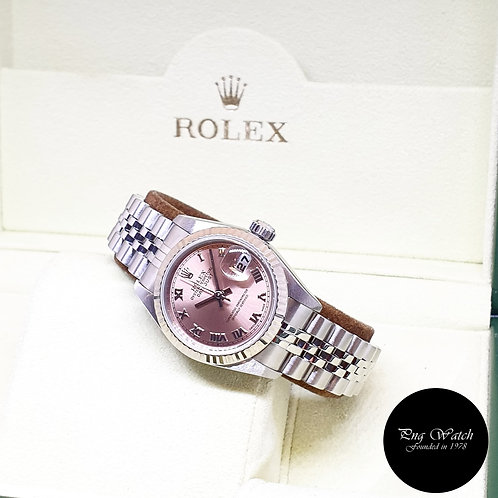 Rolex Oyster Perpetual Salmon Pink Roman Ladies Datejust REF: 79174 (F Series)
