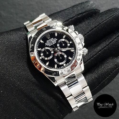 Rolex Oyster Perpetual Black Steel Daytona REF: 116520 (G Series)(2)