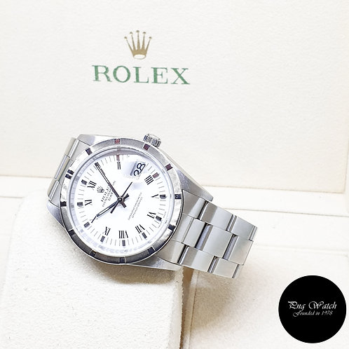 Rolex Oyster Perpetual White Roman Date REF: 15210 (P Series)