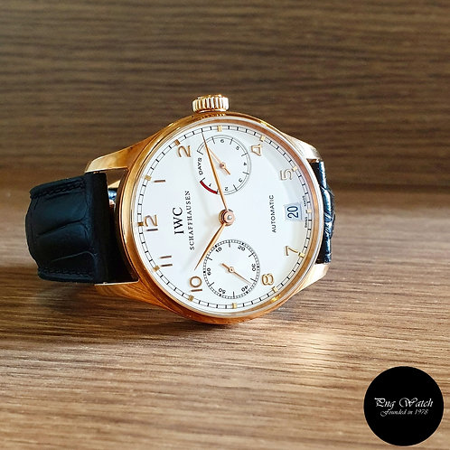 IWC 18K Rose Gold 7 Days Power Reserve Portugese REF: 500101 (2)