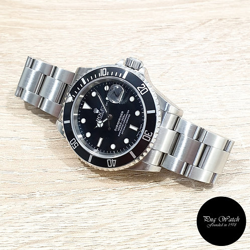 Rolex Oyster Perpetual Date Black Submariner REF: 16610 (D)(2)