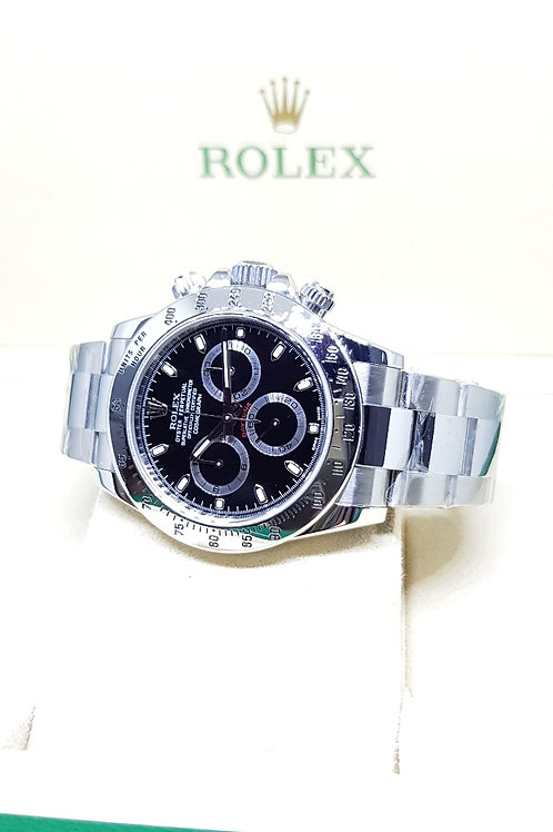 "Rolex Oyster Perpetual Black Cosmograph Daytona ""APH Dial"" REF: 116520"