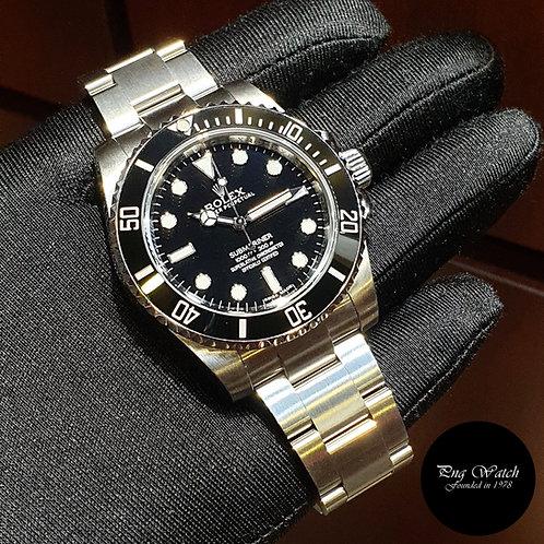 Rolex 40mm Discontinued No Date Ceramic Black Submariner REF: 114060 (17)(2)