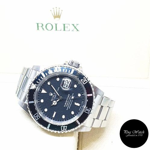 Rolex Oyster Perpetual Tritium Black Submariner Date REF: 16610 (R Series)